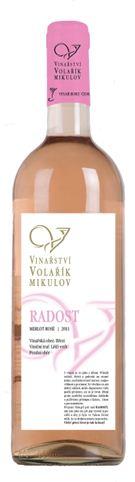 Mladé víno - Merlot rosé - RADOST