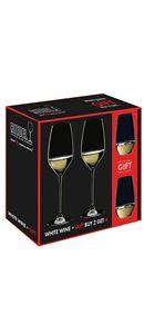 Sada Riedel sklenic - 2 na bílé víno + 2 na vodu