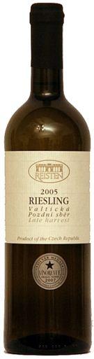 Riesling - pozdní sběr - Valtická