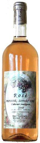 Cabernet Sauvignon rosé - zemské víno