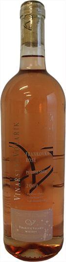 Frankovka rosé - pozdní sběr - Šibeniční hora